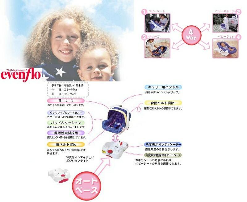 退院時から赤ちゃんを守るアメリカで人気の乳児専用シート