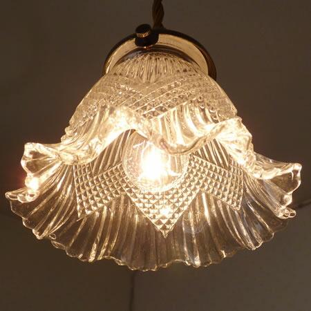1灯 ガラス ペンダント ライト FARFALLA ファルファラ