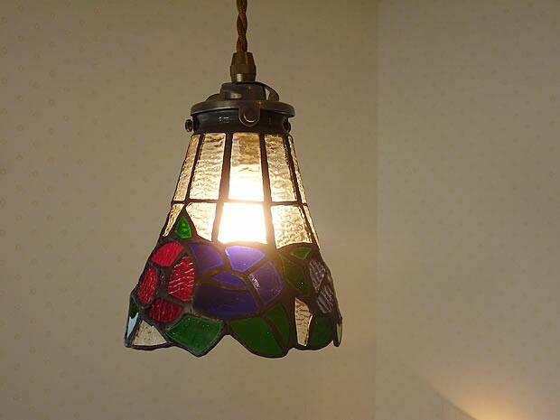 1灯 ガラス ペンダント ライト ROUGE ルージュ
