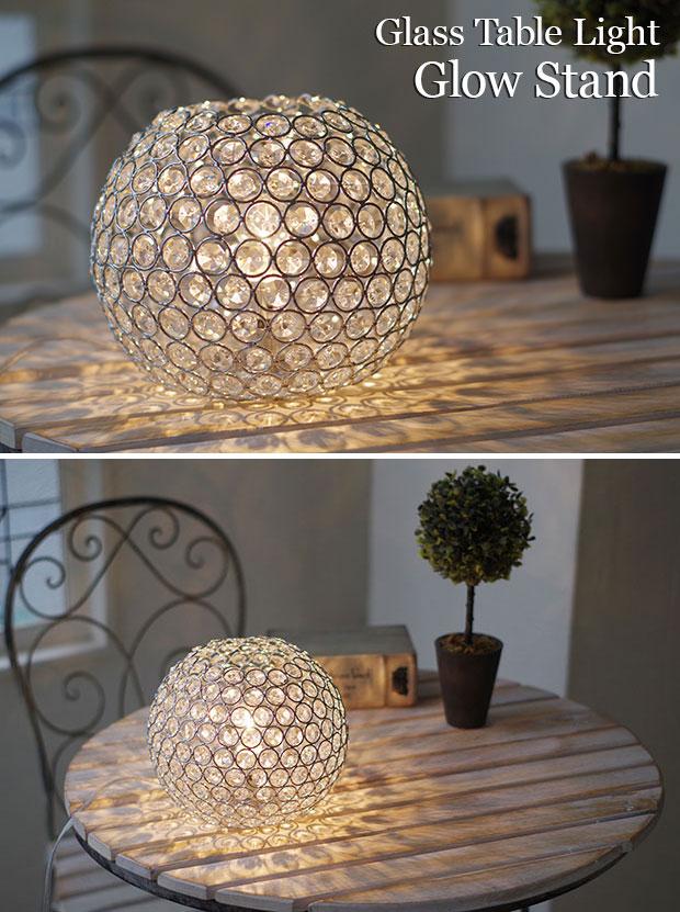 ガラステーブルライト Glow Stand