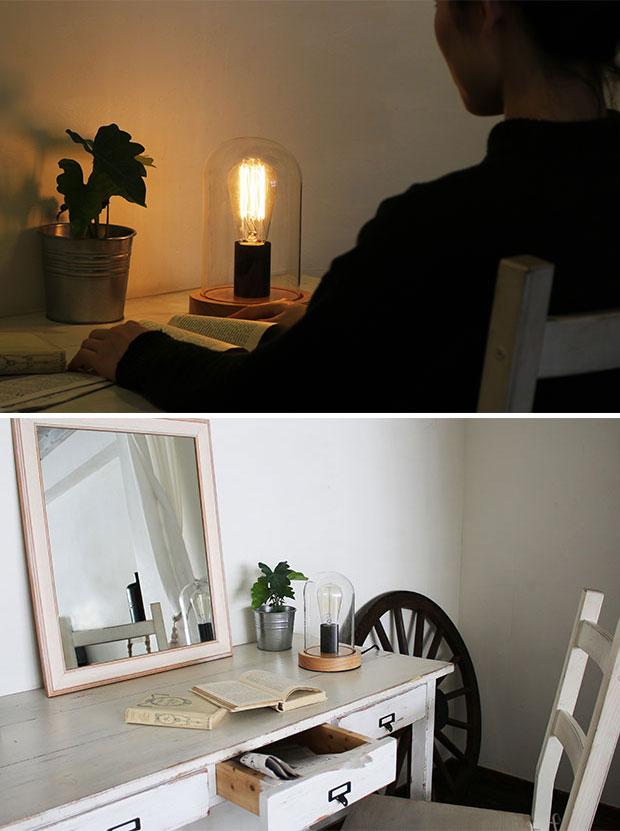 インダストリアルデザインの【JAVALOELF ジャヴァロエルフ】のテーブルライト。