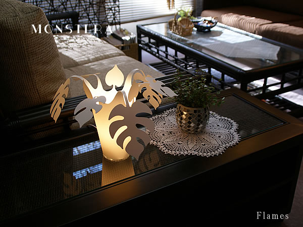 1灯テーブルライト Flames MONSTERA PLANTS フレイムスモンステラプランツ