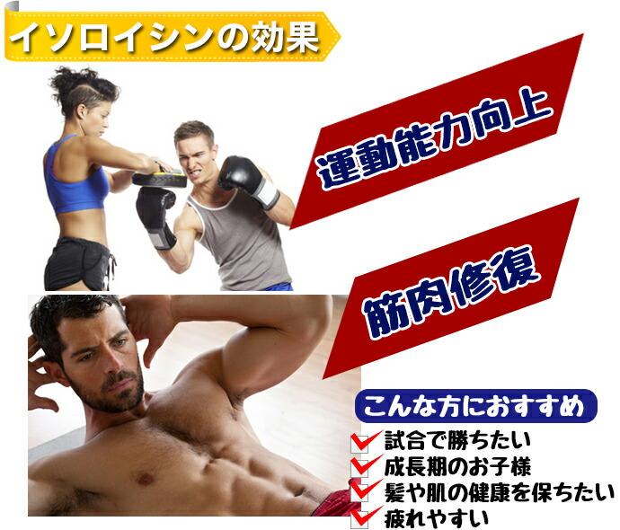 イソロイシンの効果「運動能力向上・筋肉修復」