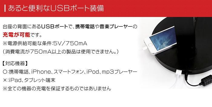 スイートライト・スタンダードでiPhoneの充電が可能!