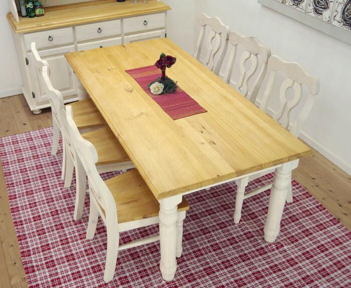 6人掛けダイニングテーブルチェアセット