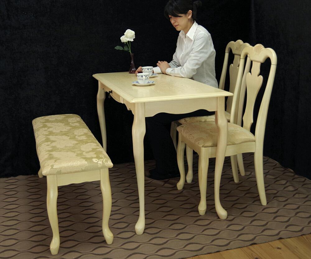 クィーンアンアンティーク調テーブルセット
