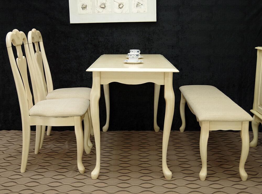 クラシック、ミルキーホワイトテーブルセット