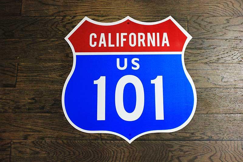 【送料無料】アメリカの国道101号線の標識★カリフォルニア区間・ルート101★トラフィックサイン