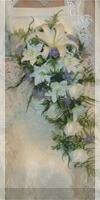 ウエディングドレスに合った生花ブーケ