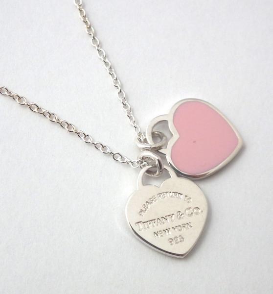Tiffany double heart tag pendant ebay tiffany double heart tag pendant aloadofball Choice Image