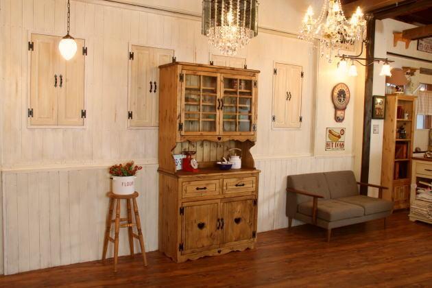 国家家具订单手工制作家具的国家,2 玻璃门, 橱柜和 dw / w1000 ctf