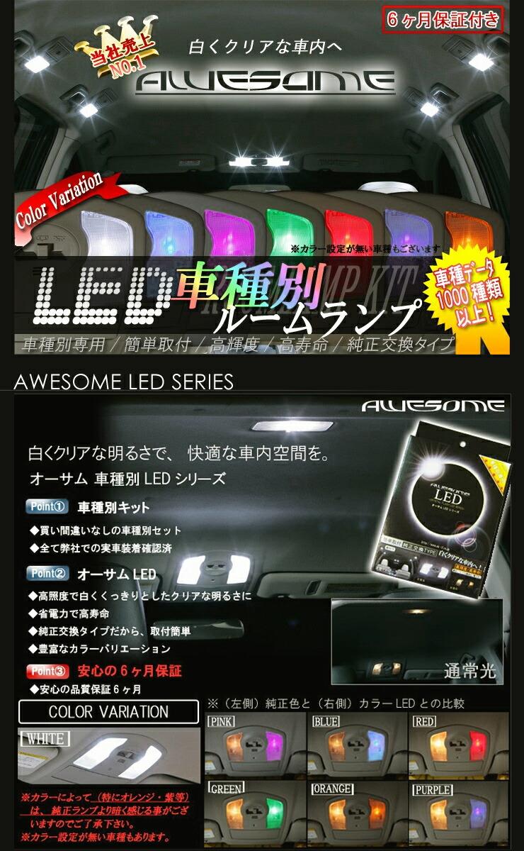 車種別LEDルームランプキット