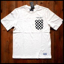 West coast of street style BRAVER bureiba biker West Coast system Checker Pocket mens t shirt short sleeve t-shirt White