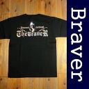 BRAVER bureiba biker West Coast series print short sleeve T shirt black x silver