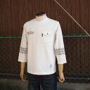 West Coast based Street style BRAVER bureiba Pocket sleeves printed bandana print 7-sleeves T shirt White