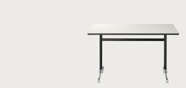 ハーマンミラー/イームズ/コントラクトベース/長方 テーブルL/黒/150x76xH70cm[テーブルはイームズ/ハーマンミラー]