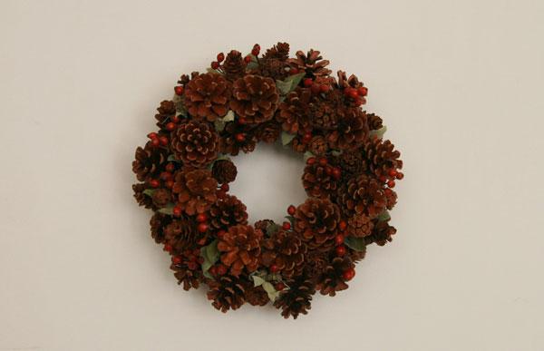斯堪的纳维亚 / 坚果圣诞花环大 [手工制作,手工制作的斯堪的纳维亚水