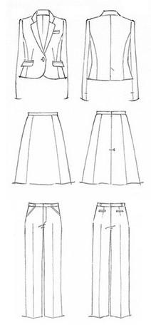西服设计图片手绘图片