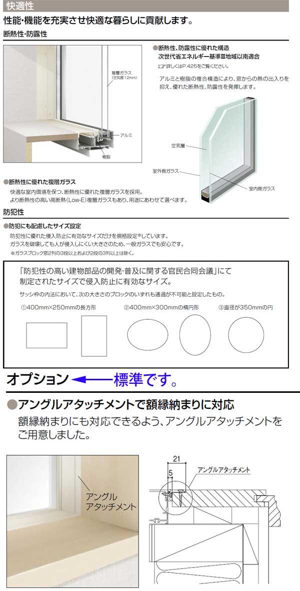 シンプルアートIIFIX窓特徴4