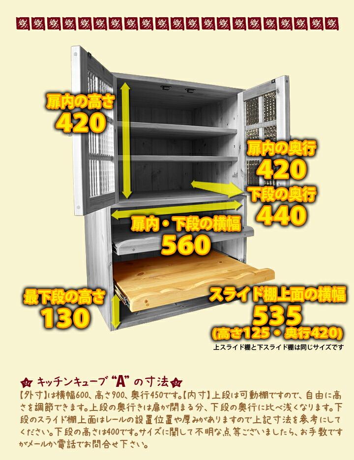カントリー家具 キッチンキューブA(単品販売版)