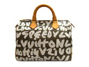 30 Louis Vuitton speedy graffiti silver Boston bag handbag M92195-limited product Vuitton
