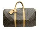 -Louis Vuitton Monogram keepall Bandy Yale 50 M 41416 Boston bag strap with bag for travel
