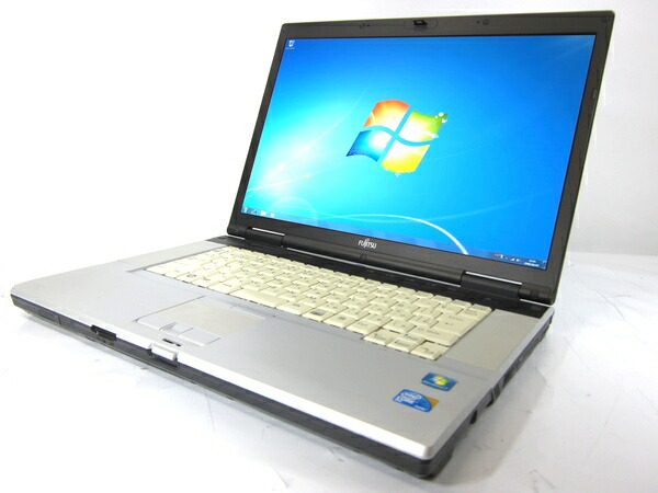 富士通 FMV-E8290 (Core2 Duo 2.53GHz 2GB 160GB 15.4inch DVD-ROM Windows7 Pro)[F106Aw2 外観わけあり]