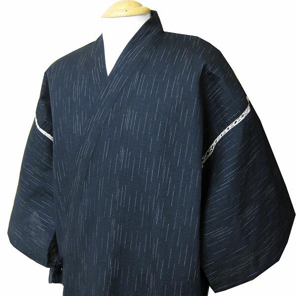 【送料無料!】父の日に綿100%しじら織り甚平(じんべい)