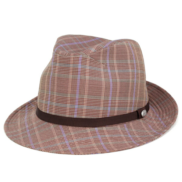 ボルサリーノ ハット メンズ 中折れハット 春 夏 帽子 チェック柄 日よけ borsalino zignone