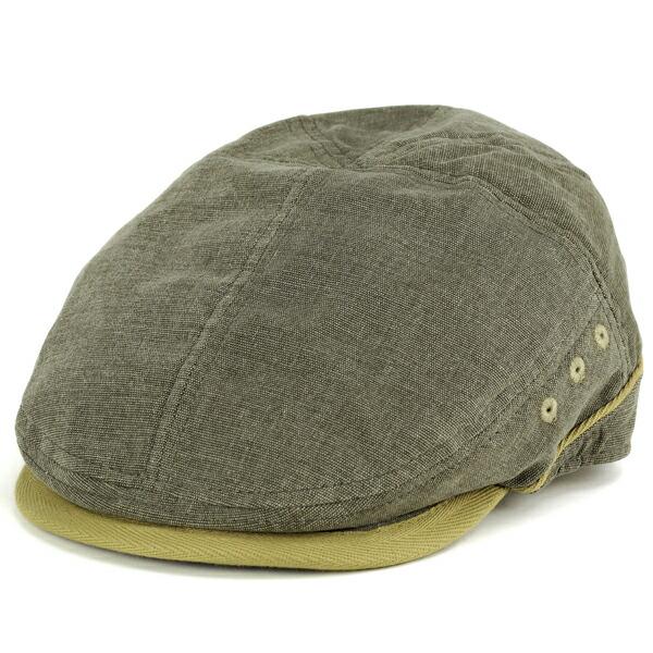ハンチング メンズ stetson ステットソン ハンチング帽 春夏 ivycap stetson ステットソン オックスフォード タフ 2トーン  オリーブ
