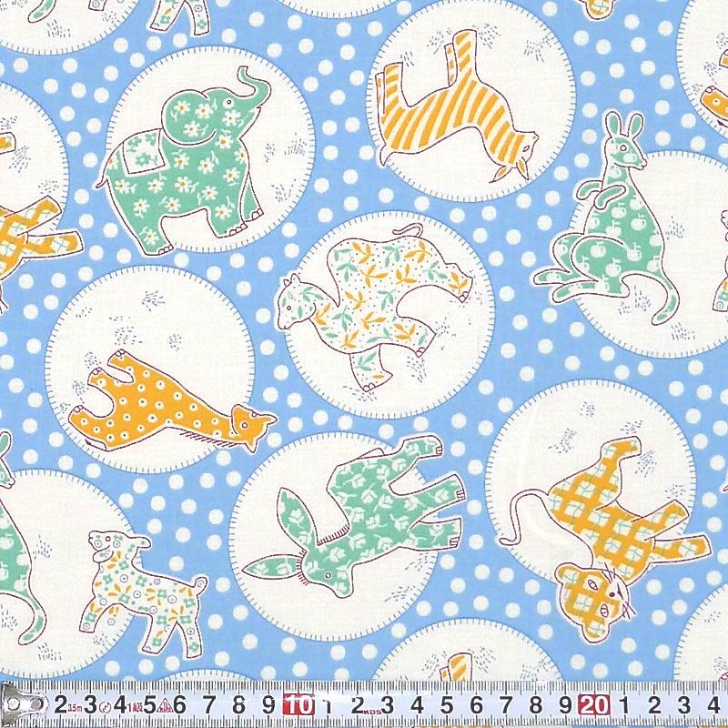 rk-1822年粉彩动物圆点 / 蓝色