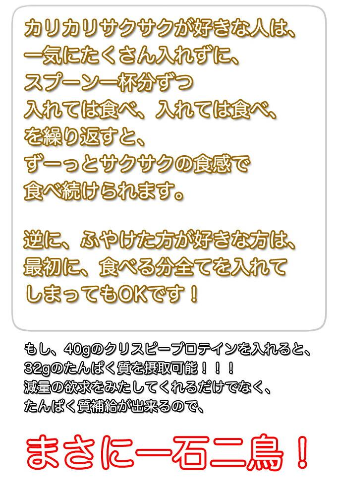 クリスピープロテイン追記6