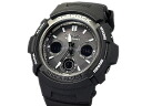 Fujiya ◆ ◆ garish black AWG-M100BW-1AJF solar watch Casio G shock