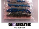 ★ RC model parts SQUAER / square RC ★ SFC-179 titanium & blue armihexbis set