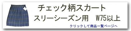 チェック柄スカート(スリーシーズン・W75以上)