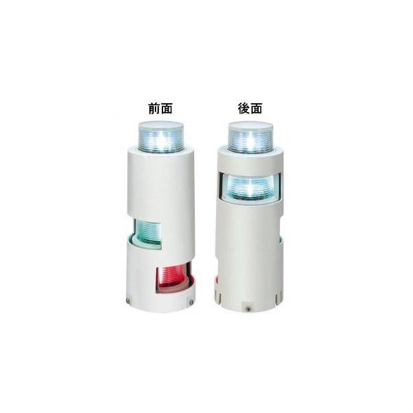 LED航海灯第2種三色灯及び第2種白灯マストコンビネーションライトMLC-4AB2