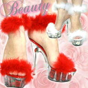 Impact ♪ high quality ★ rose heel sandals at the height of popularity