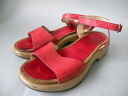 ■ DANSKO dansko strap with leather Sandals red 39(24.5cm)