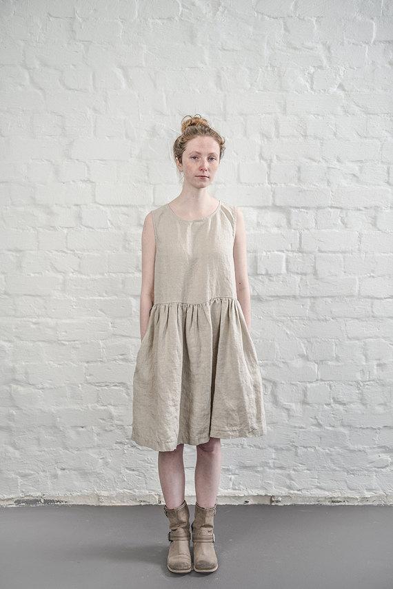 not perfect linen linen dress natural uk8 s hafen. Black Bedroom Furniture Sets. Home Design Ideas