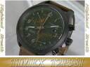 ≪Same day shipment ≫● TIMEX watch Timex watch men flyback chronograph T2P381 leather belt