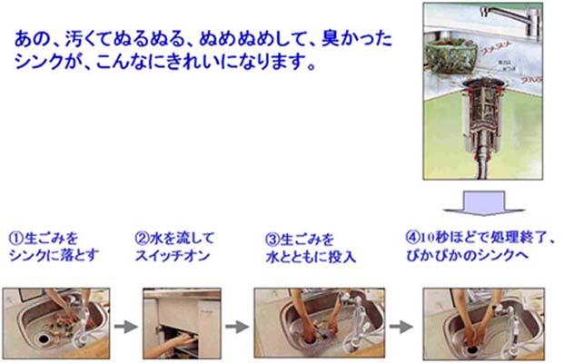 ディスポーザー(生ごみ処理機)利用方法、キッチンがきれい
