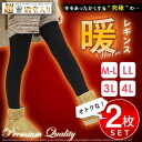 2 Piece set ★ special price *! Warm warm to warm the winter warm leggings ( spats ) ★ tights pants レギパン for winter back brushed cold cold room wearing cold measures ski mountaineering outdoor sports ladies thick large size 3 l 4 l