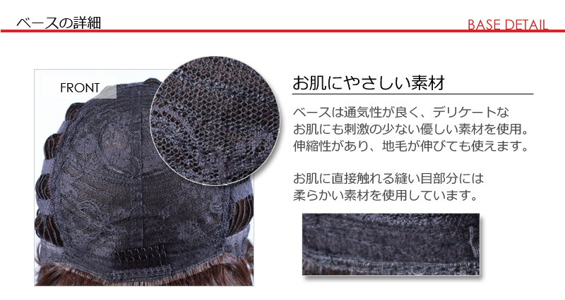 ウィッグのつくり 新型の高品質耐熱繊維の説明