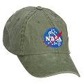 NASA ナサ ロゴ キャップ オリーブ
