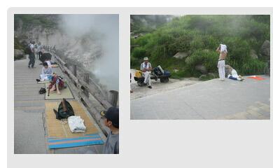 玉川温泉の放射線量測定