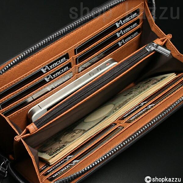 ラウンド長財布 メンズ スペインレザー 牛革 多機能 セカンドバッグ VACUA(2色)【VA-003】イメージ写真7