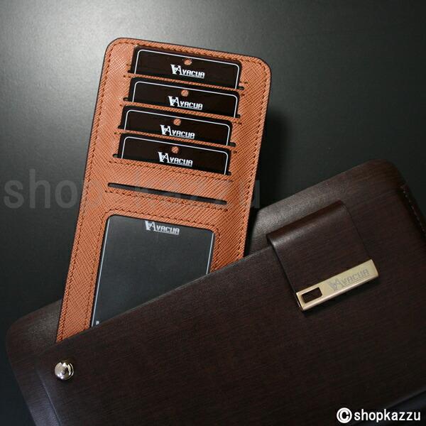 ラウンド長財布 メンズ スペインレザー 牛革 多機能 セカンドバッグ VACUA(2色)【VA-003】イメージ写真4