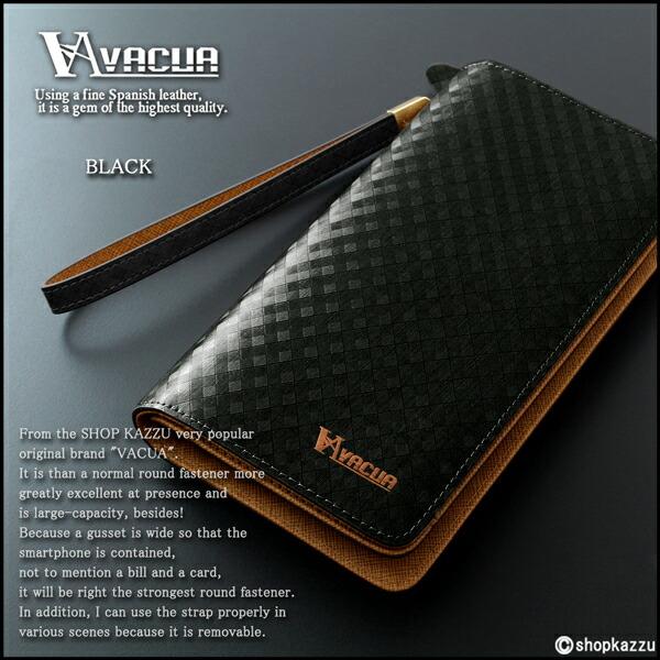 長財布 メンズ 牛床革 スペインレザー 多機能 ラウンドファスナー VACUA (2色) 【VA-010M】イメージ写真12