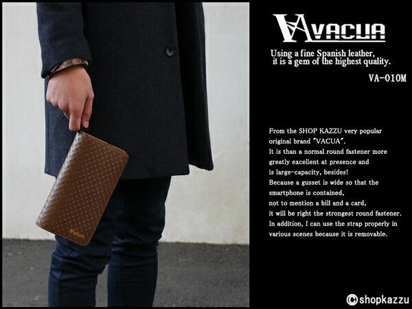 長財布 メンズ 牛床革 スペインレザー 多機能 ラウンドファスナー VACUA (2色) 【VA-010M】イメージ写真10