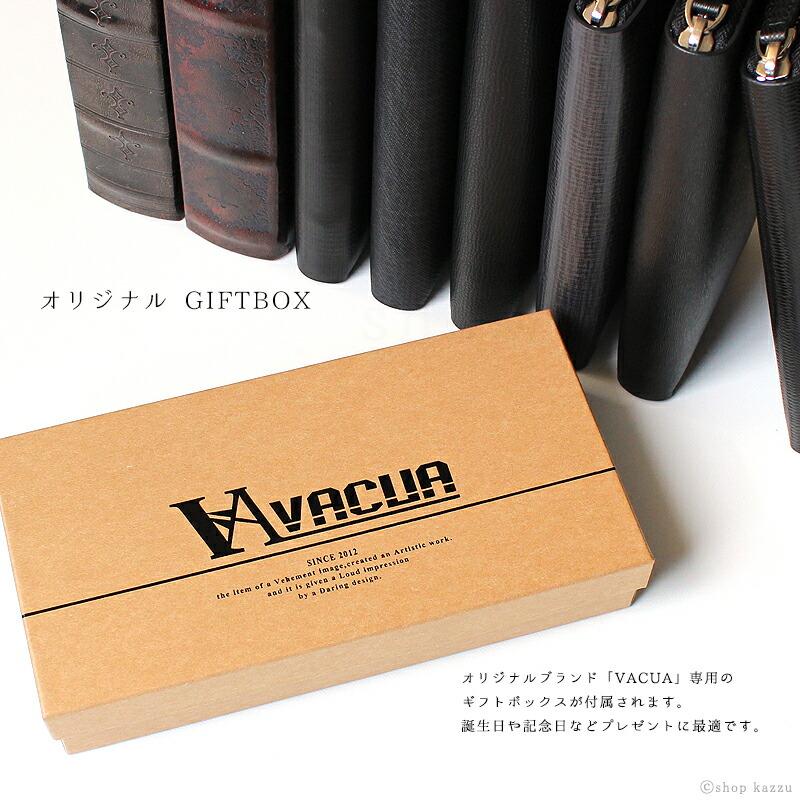 長財布 メンズ スペインレザー 牛床革 デニム調 多機能 ラウンド長財布 VACUA(2色)イメージ写真15